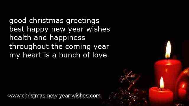 Best wishes for christmas and new year greeting cards