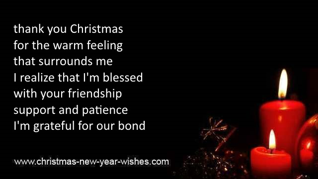 Christmas thank you sayings and appreciation words