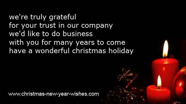 Clients wishes for christmas business thank you cards christmas holiday greetings for cards m4hsunfo